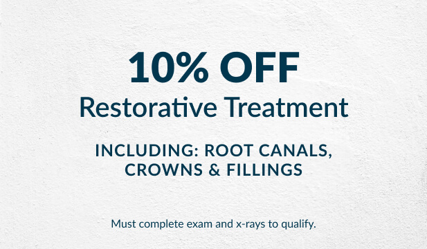 10 percent off restorative treatment at Warren Family Dentistry