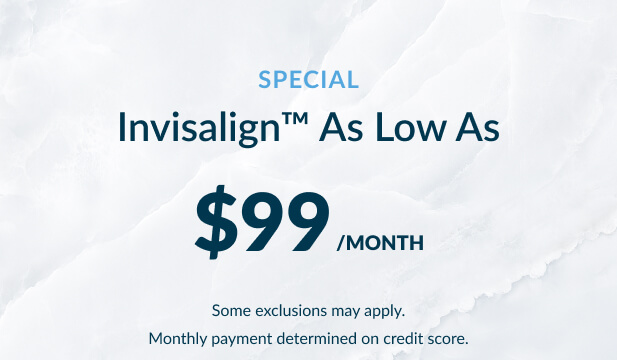 Invisalign as low as $99 per month special at Warren Family Dentistry