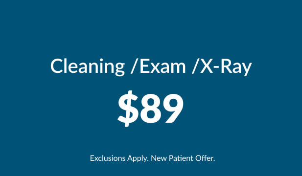Cleaning, Exam, X-ray $89 special at Warren Family Dentistry