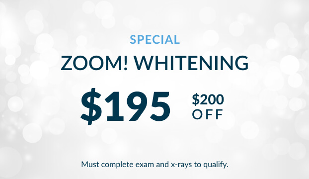 Zoom teeth whitening $195 special at Warren Family Dentistry