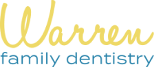 Warren Family Dentistry logo in yellow and blue, dentist in Warren MI