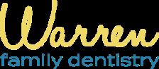 Warren Family Dentistry logo in yellow and blue, dentist in Warren MI